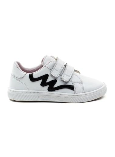 minipicco Minipicco Unısex  Deri Ortopedik Destekli Spor Ayakkabı Beyaz